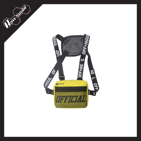 RawSushiApparel Bags YELLOW RSK7 Tactical Streetwear Chest Bag