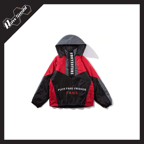 RawSushiApparel Jackets / Coats RSL9 Vintage Color Block Harajuku Windbreaker