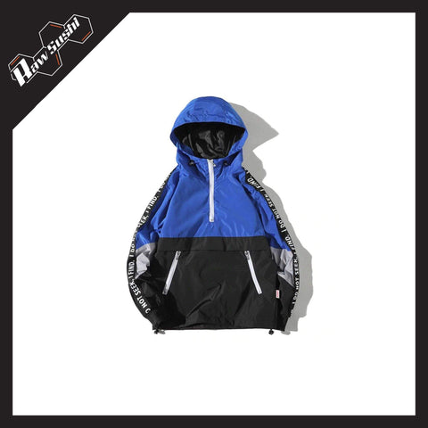 RawSushiApparel Jackets / Coats BLUE / XXL RSN1 Color Block Streetwear Windbreaker