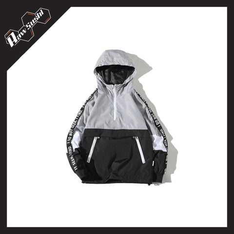RawSushiApparel Jackets / Coats GRAY / S RSN1 Color Block Streetwear Windbreaker