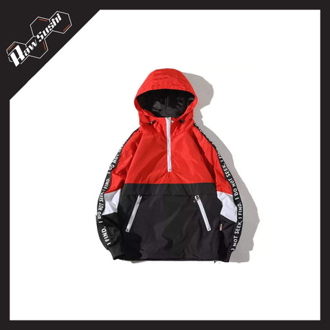 RawSushiApparel Jackets / Coats RED / 4XL RSN1 Color Block Streetwear Windbreaker