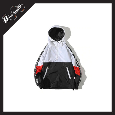 RawSushiApparel Jackets / Coats WHITE / S RSN1 Color Block Streetwear Windbreaker