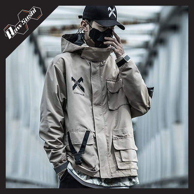 RawSushiApparel Jackets / Coats RSN8 Casual Multi-Pockets Streetwear Jacket
