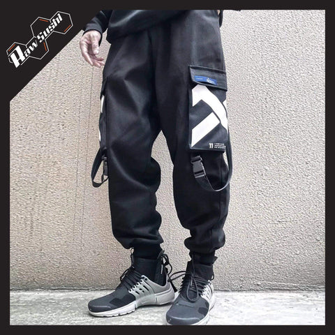 RawSushiApparel Bottoms L RSO5 Multi-Pockets Harajuku Streetwear Pants