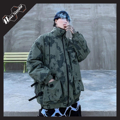 RawSushiApparel Jackets / Coats GREEN / XL RSP4 Loose Military Camouflage Winter Jacket