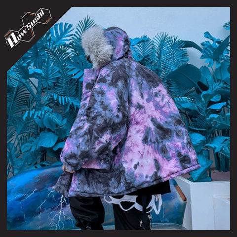 RawSushiApparel Jackets / Coats PURPLE / M RSP5 Creative Printed Harajuku Streetwear Winter Jacket