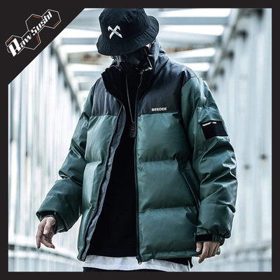 RawSushiApparel Jackets / Coats GREEN / XL RSP7 Color Block Harajuku Streetwear Jacket