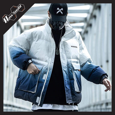 RawSushiApparel Jackets / Coats BLUE / L RSP8 Gradient Color Block Streetwear Jacket