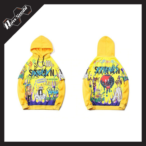 RawSushiApparel Hoodies RSS9 Cartoon Printed Harajuku Hoodie