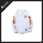 RawSushiApparel Tees WHITE / L RSU7 Casual Long Sleeve Harajuku Tee