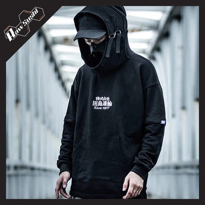 RawSushiApparel Hoodies BLACK / M RSV0 Loose Embroidery Hoodie