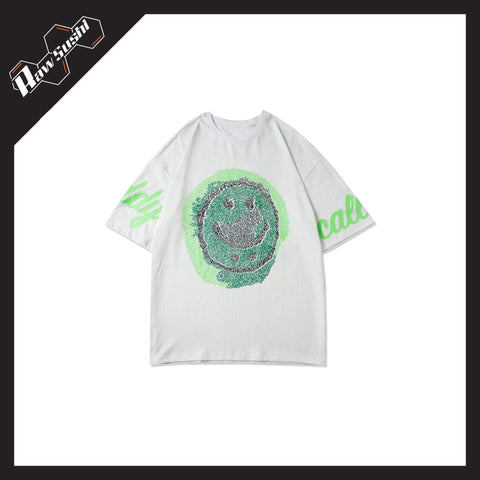 RawSushiApparel Tees WHITE / XS RSW1 Graffiti Smiley Printed Harajuku Tee