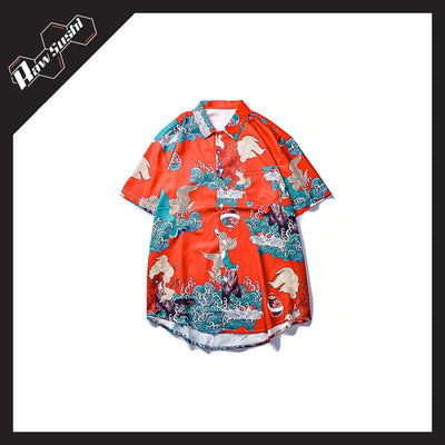 RawSushiApparel Tees L RSX4 Japanese Style Hawaii Shirt