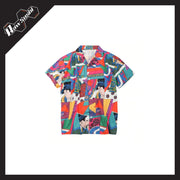 RawSushiApparel Tees WITH BUTTON / M RSY7 Vintage Ukiyoe Style Printed Hawaii Shirt