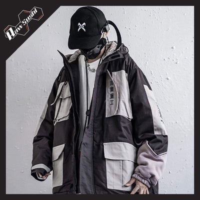 RawSushiApparel Jackets / Coats L RSZ1 Retro Color Block Streetwear Jacket
