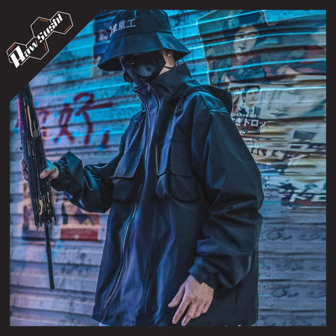 RawSushiApparel Jackets / Coats S RSZ3 Tactical Reflective Streetwear Jacket
