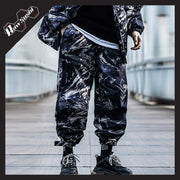 RawSushiApparel Bottoms BLUE / S RSZ6 Thick Tie-Dye Winter Cargo Pants