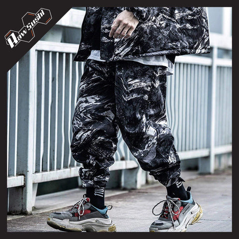 RawSushiApparel Bottoms GRAY / S RSZ6 Thick Tie-Dye Winter Cargo Pants