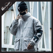 RawSushiApparel Jackets / Coats RSZ7 Casual Reflective Tech Cargo Jacket