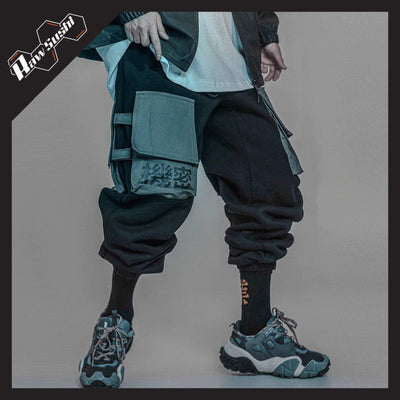 RawSushiApparel Bottoms L RTA0 Casual Multi-Pocket Streetwear Jogger