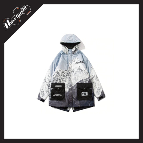 RawSushiApparel Jackets / Coats RTA2 Mountain Printed Harajuku Winter Jacket