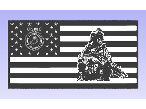 Marine Corps Soldier Flag - South City Woodworks wooden american flag military law enforcement first responder firefighter army navy air force marines retirement gift st louis custom personalized