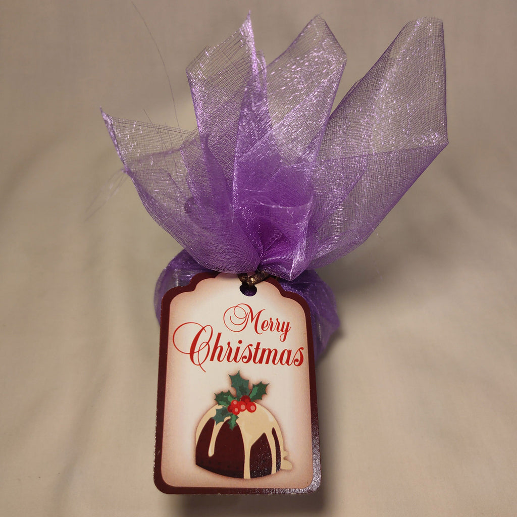 Gluten Free Rum & Raisin Christmas Pudding (Purple Organza)