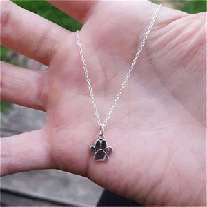 Pet Paw Print Jewelry Necklace