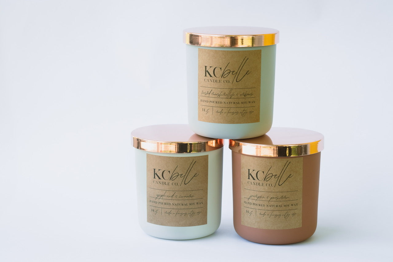 Autumn's In the Air Collection - Set of Three 14 oz. Candles