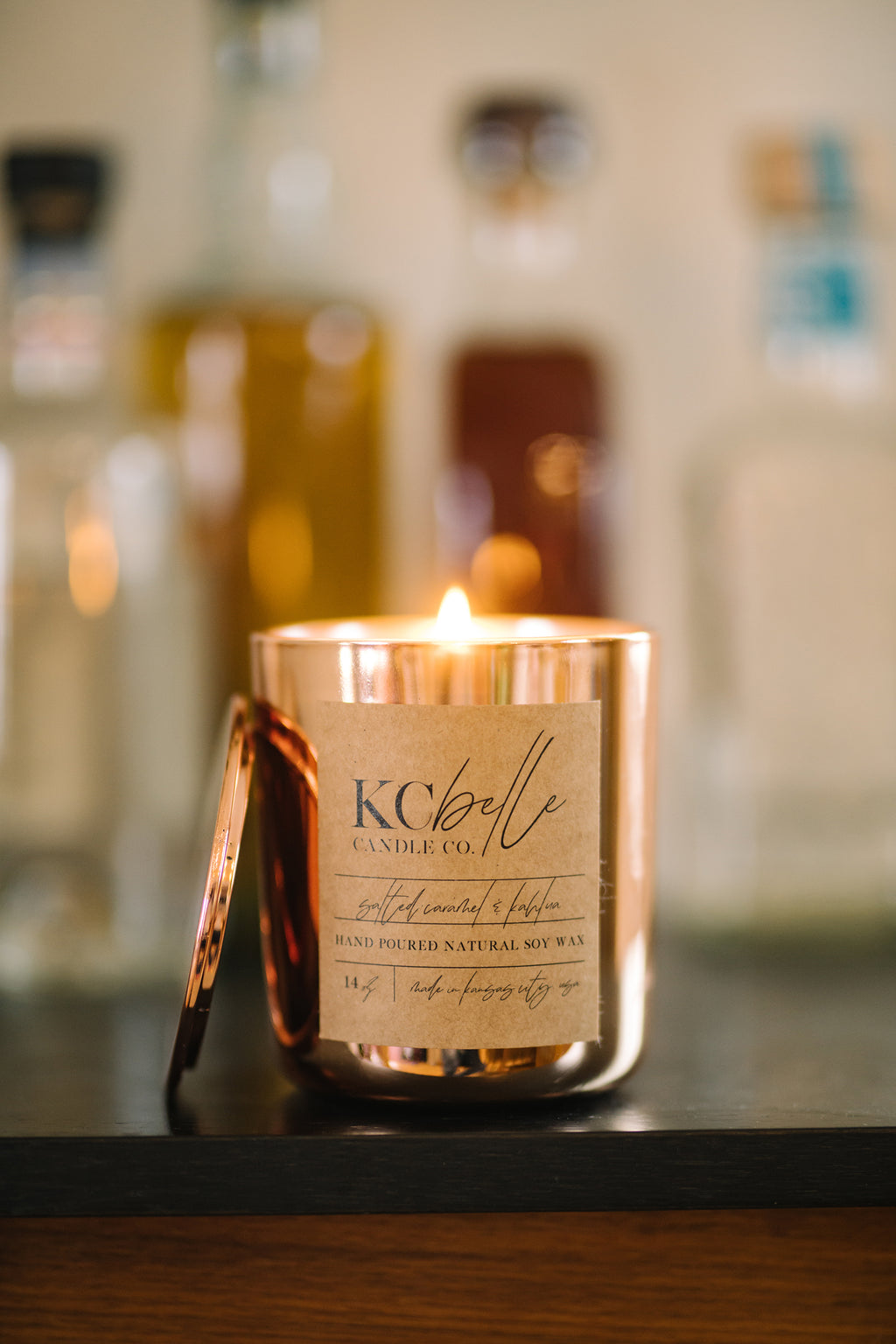 Salted Caramel & Coffee Liqueur - 14 oz. Candle