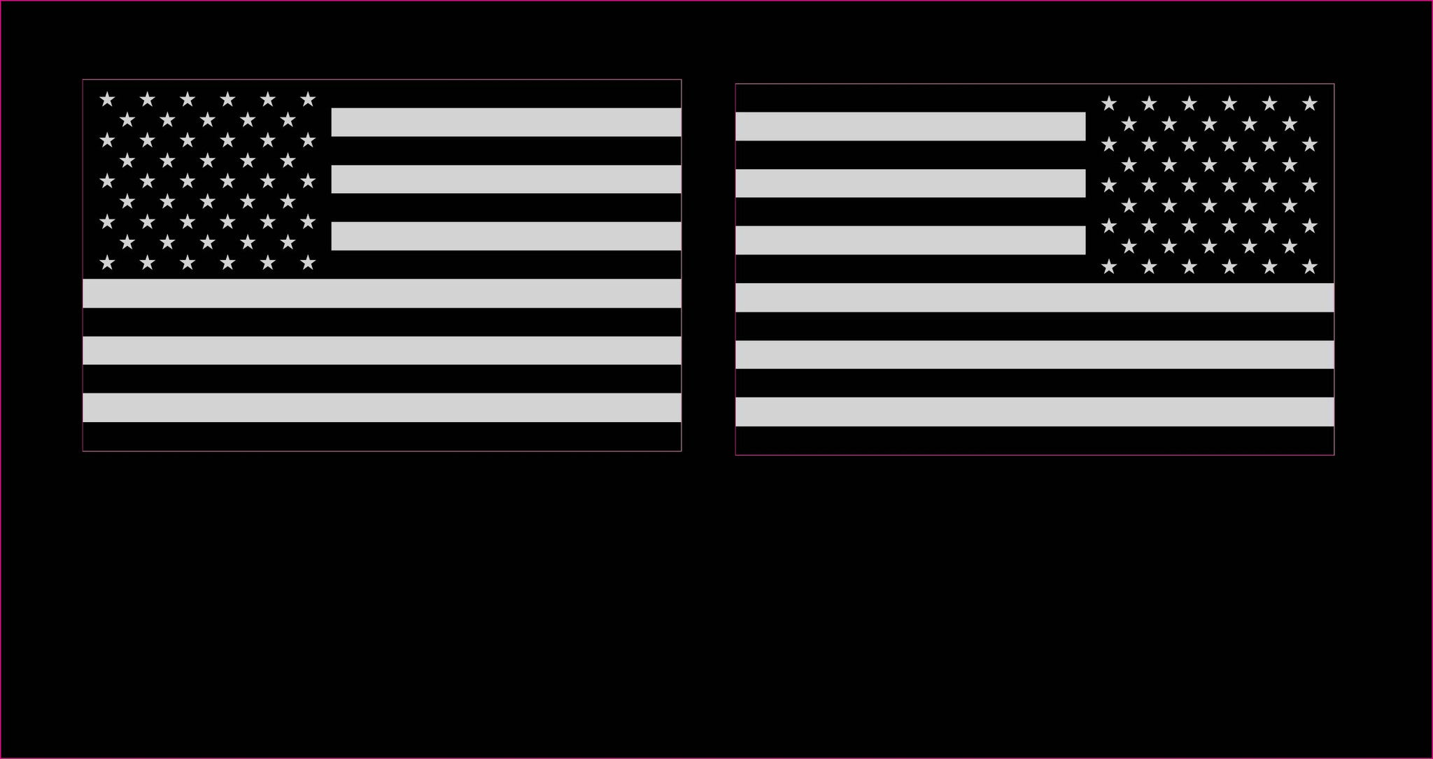 36e1cd3f87c USA Subdued American Flags LH   RH (2) Decals Stickers United States ...