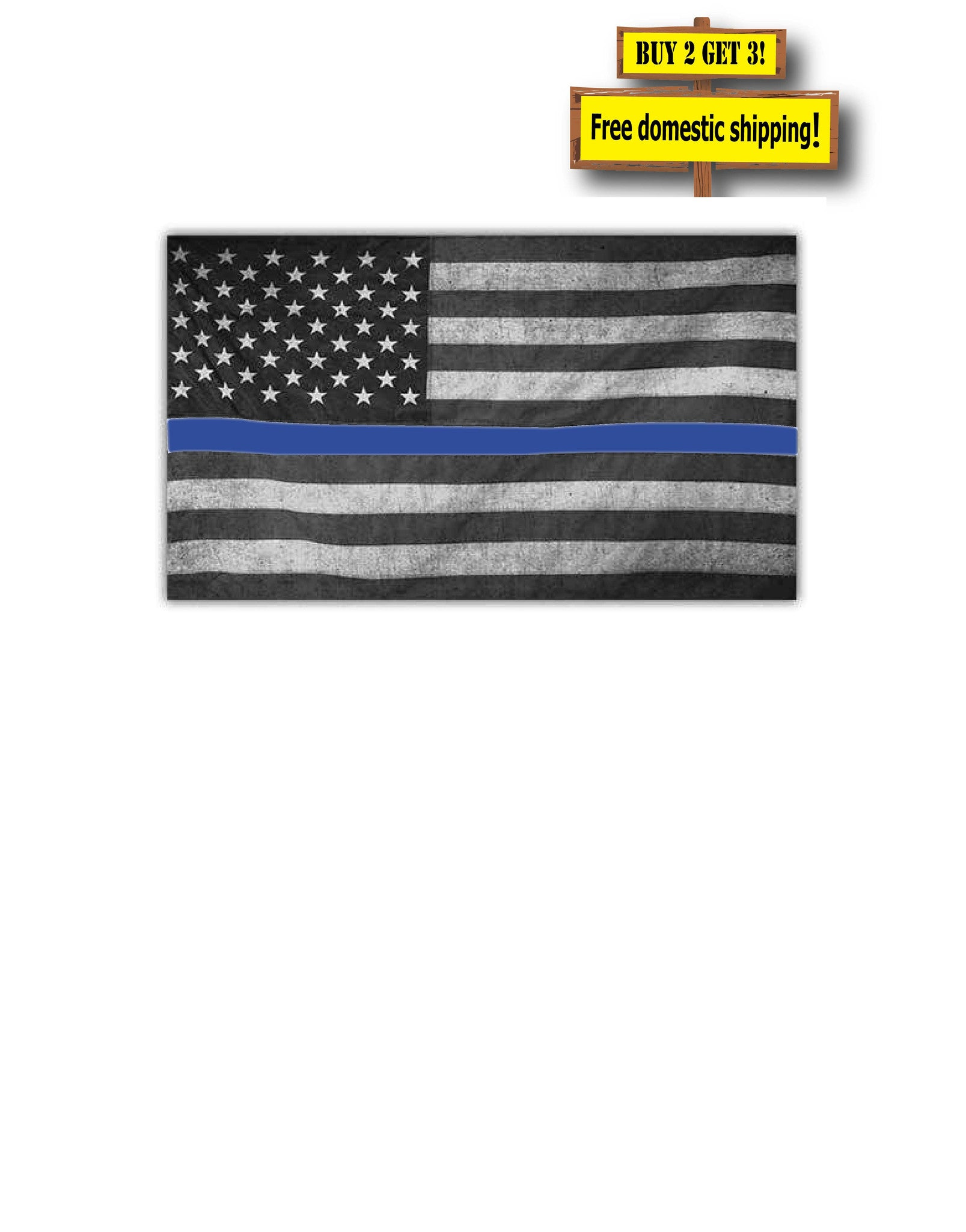 9262ec33dc8 Pair of (2) Thin Blue Line Distressed Subdued Flags Decals stickers ...