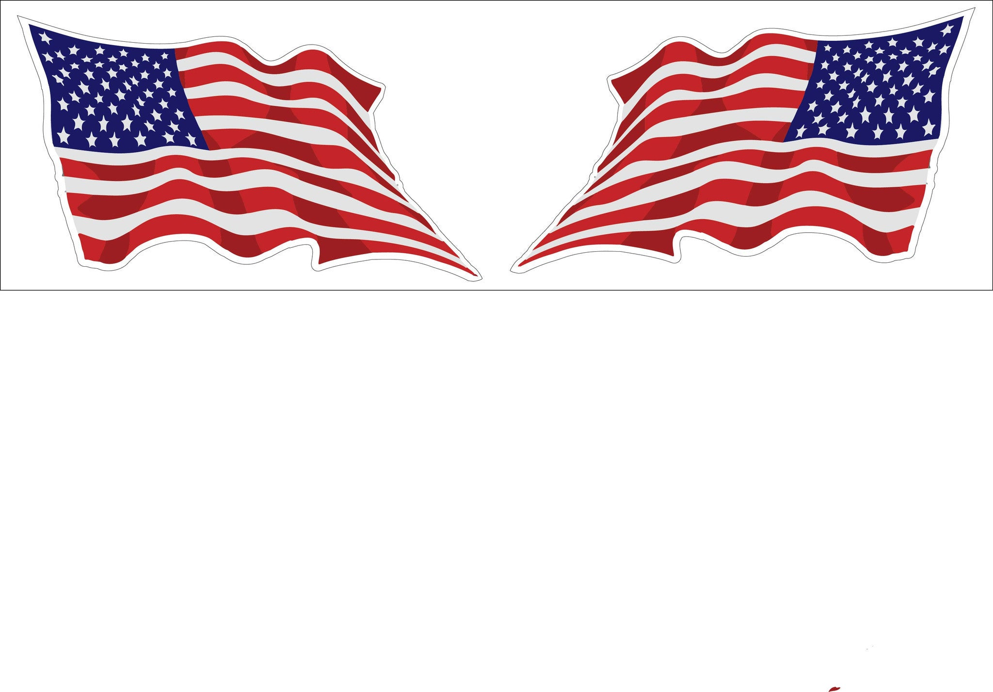 Motor Cycle Decal Sticker United States Wavy Flag 2 Pack Decal Sticker Buy  2 Packs Get 3rd Pack Free Shipping