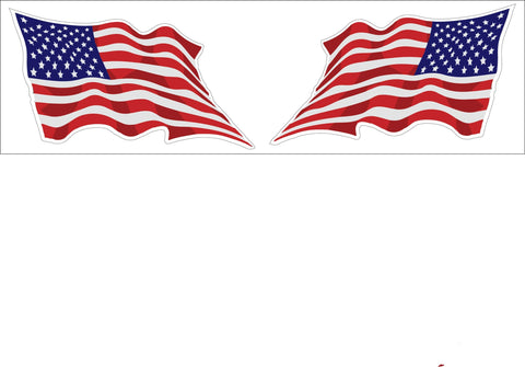5d38c184dd8 United States Wavy Flag 2 Pack Decal Sticker Buy 2 Packs Get 3rd Pack Free  Shipping
