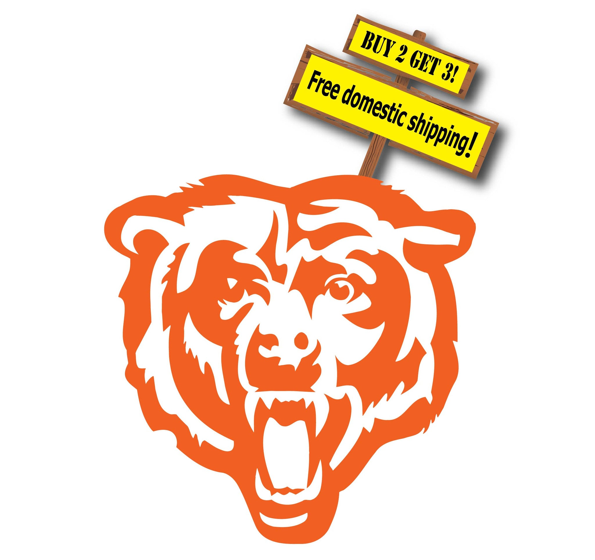 Chicago Bears Die Cut Vinyl Decal, Choose Your Color Made