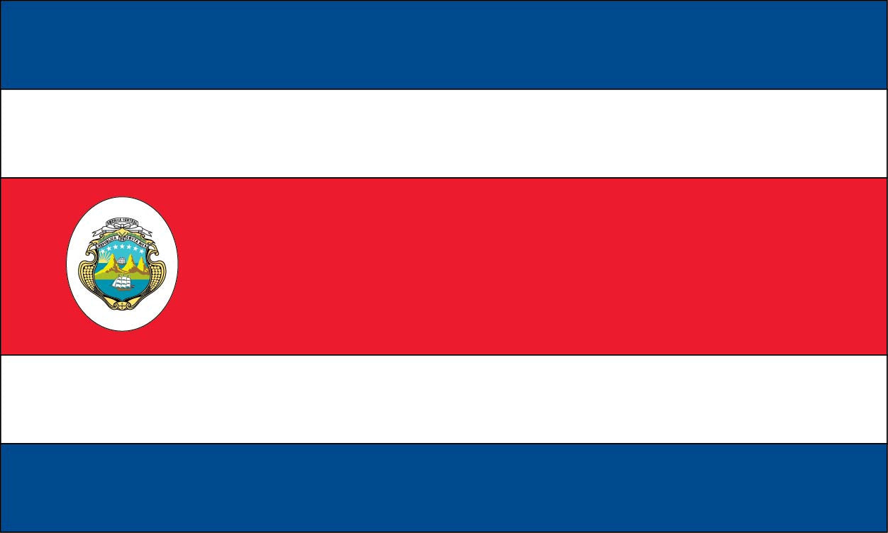 costa rica flags san jose limon alajuela liberia san francisco 2