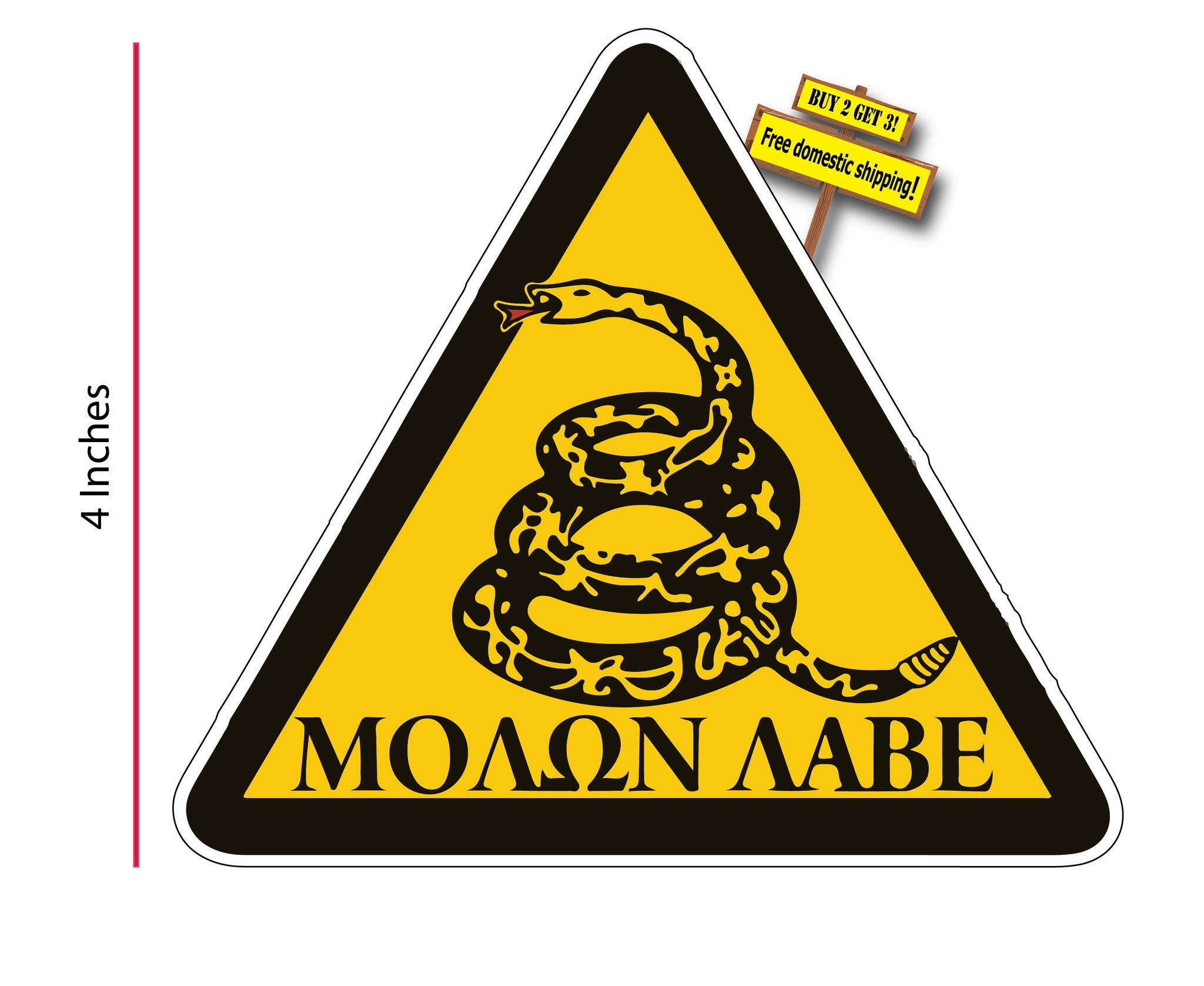 Banksy panda with guns sticker truck stickers logos and vinyl - Molon Labe Triangle Don T Tread On Me Gadsden Flag Gun Rights Decal Sticker Buy 2 Get 3 Free Shipping