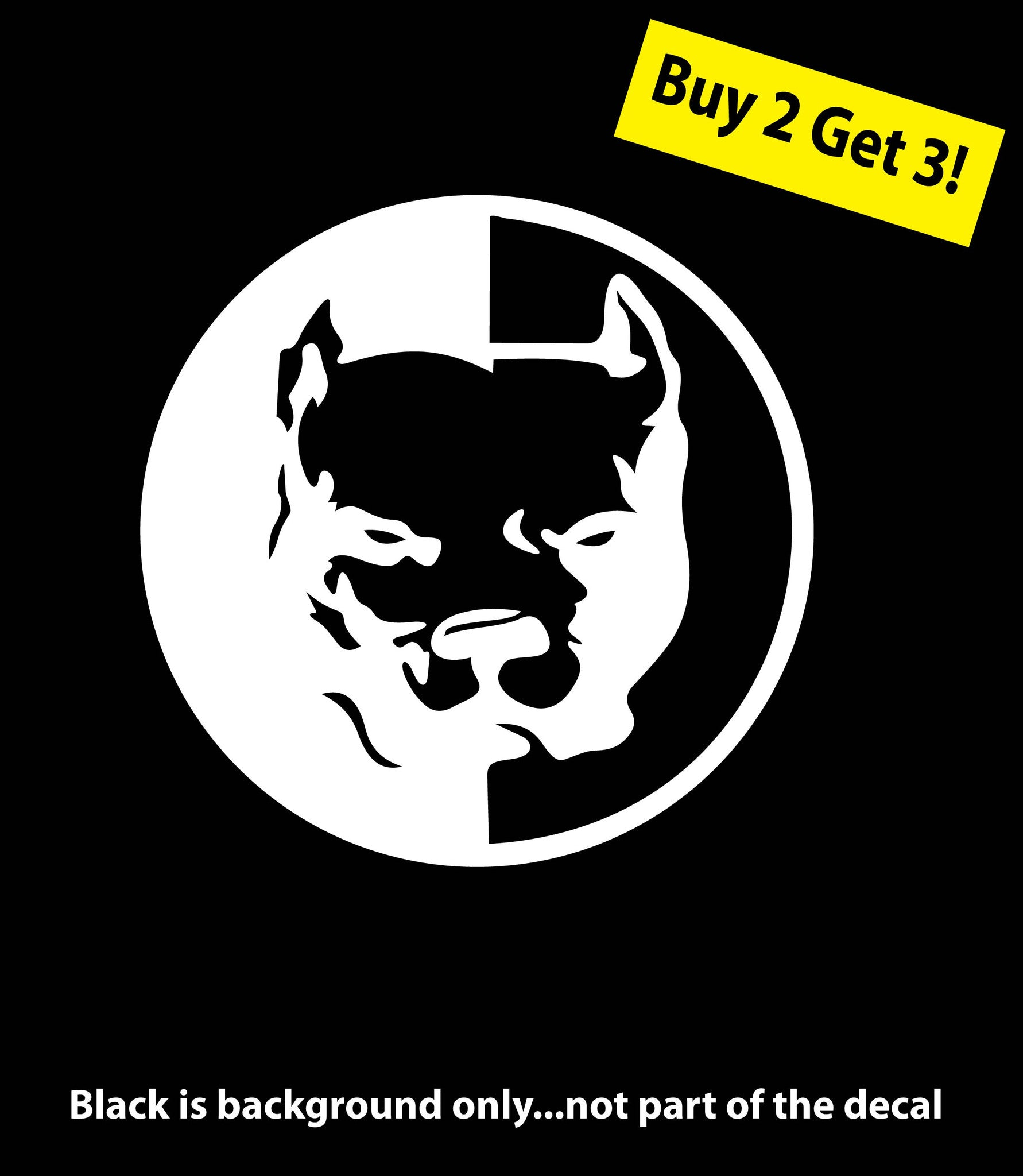 Banksy panda with guns sticker truck stickers logos and vinyl - B4b Pit Bull Dog Pitbull Sticker Decal Car Truck Window Die Cut Free Shipping