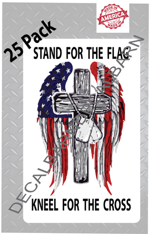 Stand For The Flag Kneel For The Cross Sticker Decal The