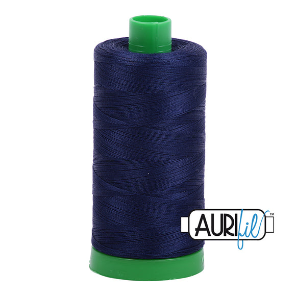 Aurifil Cotton Mako Thread 40wt Midnight