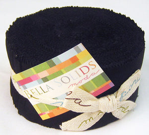 Bella Solids Jelly Roll Black
