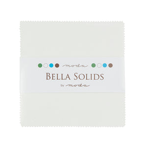 Bella Solids Charm Pack -  White