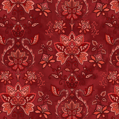 Jacobean Joyeux Damask - Red
