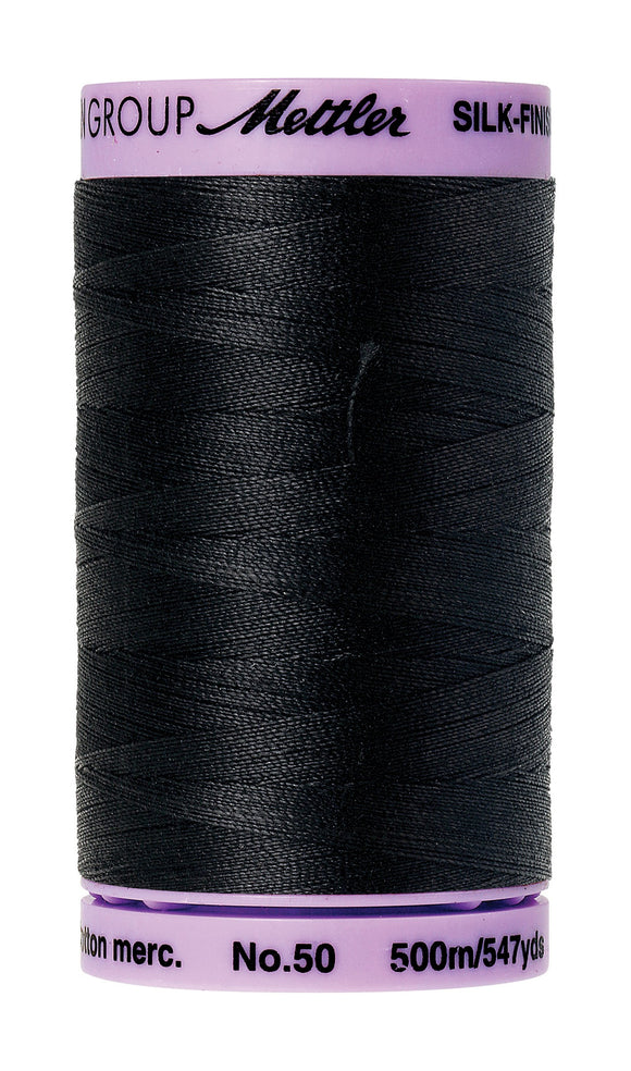 Silk-Finish 50wt Solid Cotton Thread Black