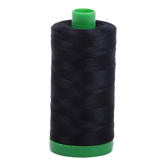 Aurifil Mako Cotton Thread Black  40wt