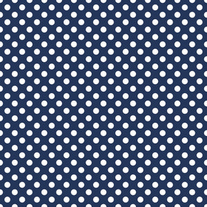 Medium Dots Navy