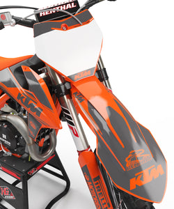 "KTM GRAPHICS KIT ""RETRO - ORANGRE/GREY"""