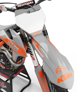 "KTM GRAPHICS KIT ""RETRO LIGHT GREY"""
