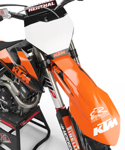 "KTM GRAPHICS KIT ""RETRO BLACK"""