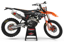 "Load image into Gallery viewer, KTM GRAPHICS KIT ""GATE ORANGE/BLACK"""